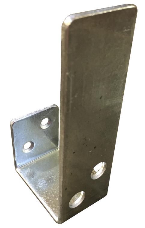 Open 2x4 bar holder galvanized steel front