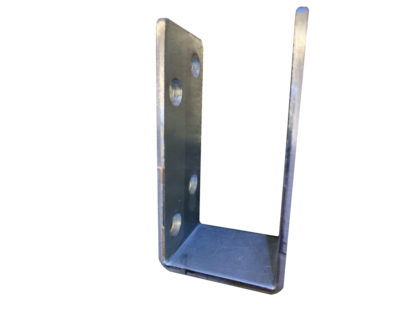 2x4 door security bar brackets barricade open top galvanized bar holder side view